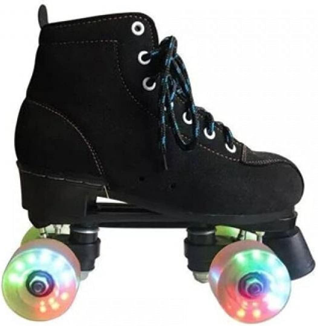 SUOTENG Roller Skates Women security W Japan Maker New Flash Black Cowhide