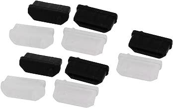 10 Pcs HDMI Female Port Silicone Anti Dust Cover Protector Black Clear