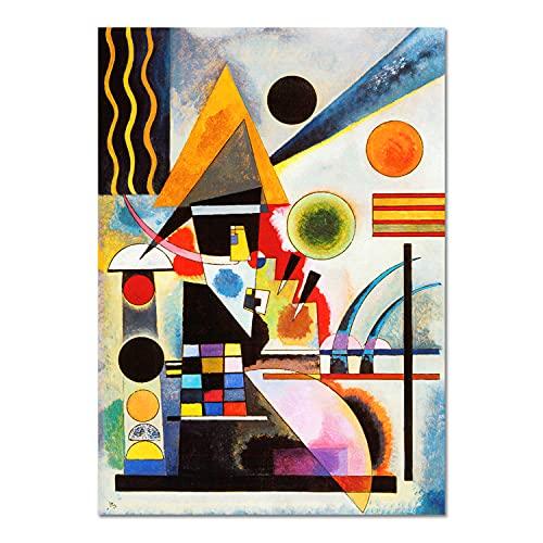 Giallobus - Pinturas - Vassily Kandinsky - Oscilación - Vidrio acrílico plexi - 50x70 - Listo para Colgar - Cuadros Modernos para el hogar