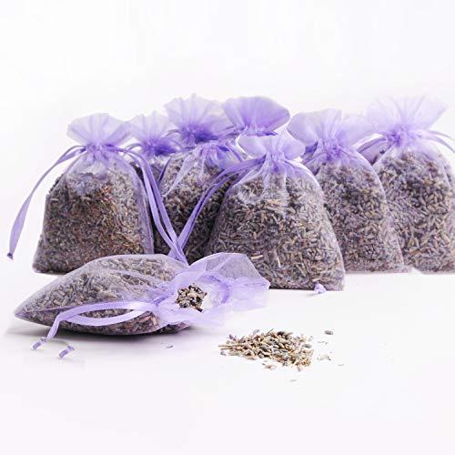Lavendelduftsäckchen | Organza natürlicher Lavendel | schonend getrocknet | Umweltfreundlich | Made in Germany | 12x 14g Inhalt (12er Set)