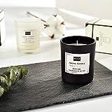 T-shin Natürliche Duftkerze, Aroma-Kerze, Geschenk, handgefertigtes Sojawachs im Glas, 12 Stunden, glückliche Reise-Kerze, ideal für Meditation, Stressabbau, Stimmung Black-Gentleman