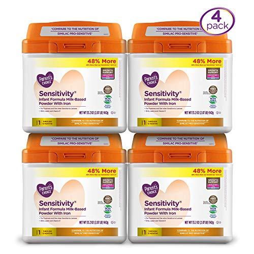 Parent's Choice HMO/NonGMO Sensitivity Infant Formula 4 Pack, 33.2oz each