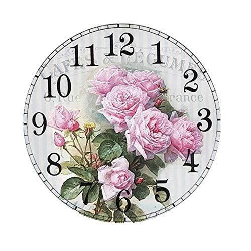 DIY Pintura por Números-5D Diamante Pintura Reloj Kits 11,8 inch Reloj de Pared...