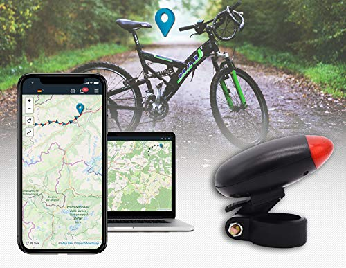 Salind GPS-Tracker Fahrrad, etwa 5 Tage Akkulaufzeit (bis zu 10 Tage im Standby Modus) Fahrrad Tracker