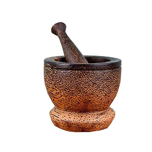 environ 12.70 cm marbre Pilon et mortier Set Meulage Broyage Des Herbes épices Cuisine Meuleuse 5 in