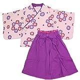 ベビー キッズ 袴風 女の子 2点 セット 紫色 95cm 1064100607PU95