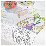 Easter Kids Coloring Table Cover 48' x 36' | Easter Game Activity Table Cover, Color Your Own & Decorate, Kindergarten Students, DIY Art & Craft, Egg Hunt Party Favor