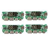 Módulo de visualización de litio cargador de batería Junta 5V 2.4A banco móvil digital de potencia de carga del módulo con pantalla Boost Módulo 4 PCS