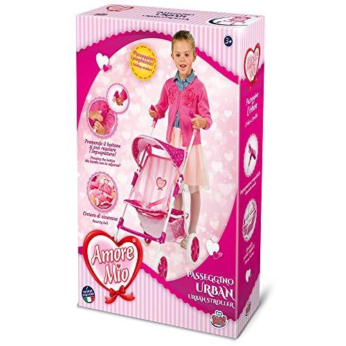 Grandi Giochi GG71282, Amore Mio Passeggino Urban, Colore Rosa