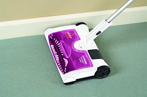 Bissell 41051 Supreme Sweep Turbo Kehrer, Akku-Besen für Hartböden und Teppiche, kabellos, aufladbar, 7.2 V - 7
