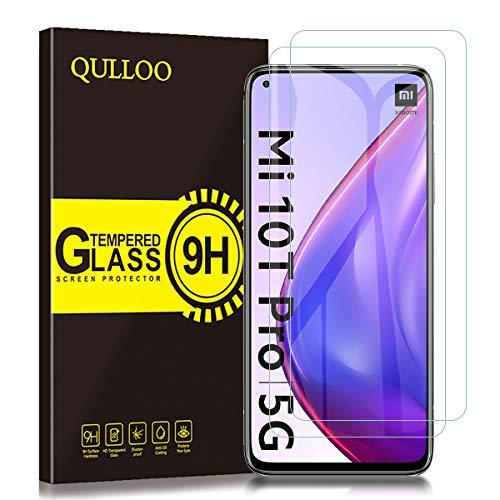 QULLOO Panzerglas für Xiaomi Mi 10T 5G / Mi 10T Pro 5G, 9H Hartglas Schutzfolie HD Displayschutzfolie Anti-Kratzen Panzerglasfolie Handy Glas Folie für Xiaomi Mi 10T 5G / Mi 10T Pro 5G
