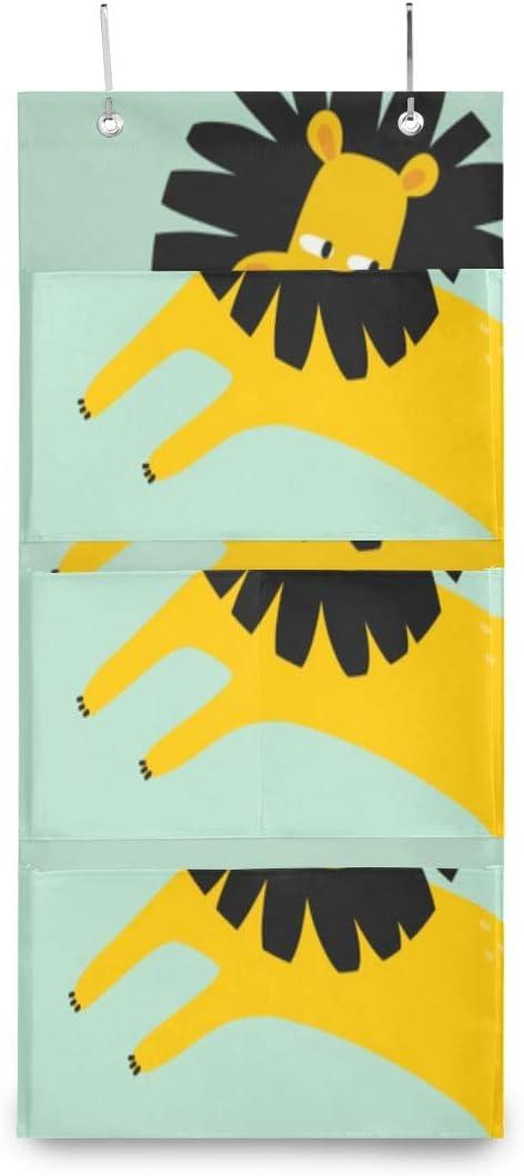XDCGG Hanging Storage Bag Max 77% OFF Cute Lion Organizer Door depot Wa Baby Print