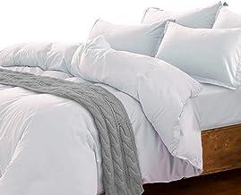 Essina King Quilt Cover Set 3pc Candies Collection, 100% Cotton 620 Thread Count Duvet Cover Set, Pillow Sham, White