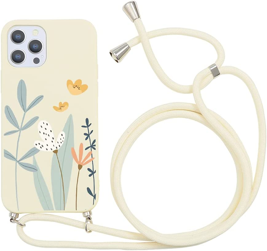 Yoedge Crossbody Case for Huawei Honor 9 Lite, Neck Cord Phone Case with Adjustable Lanyard Strap, Soft TPU Silicone with Cute Pattern Cover Compatible with Honor 9 Lite [5.65