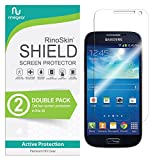 (2-Pack) RinoGear Screen Protector for Samsung Galaxy S4 Mini Case Friendly Samsung Galaxy S4 Mini Screen Protector Accessory Full Coverage Clear Film