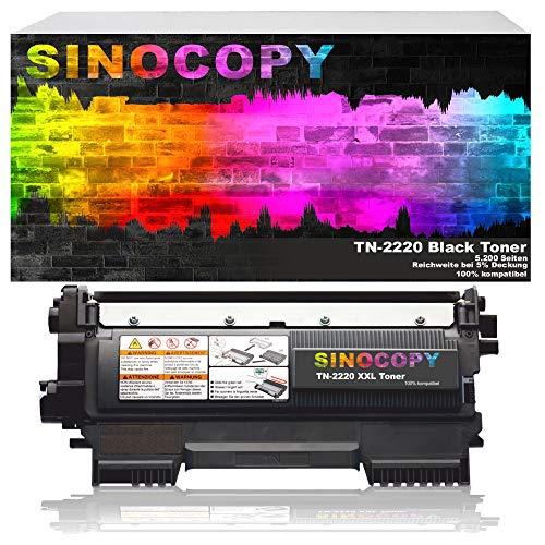 SinoCopy XXLToner 5400 Seiten ersetzt Brother TN-2220, TN2220, TN 2210, TN2210 DCP7060/7060D/7060N/7060DN/7070/7070DW HL2240/2240D/2240L/2250/2250DN/2270/2270DW MFC7360/7360N/7460/7460DN/7860/7860DW