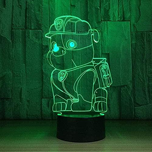 Lonfencr Luces de noche de mesa para mascotas y perros, iluminación interior, 16 colores intermitentes para niños, Navidad, cumpleaños, USB, botón táctil