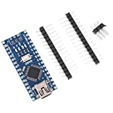FAMKIT 10Pcs Nano V3. 0 Atmega328p Micro Módulo de Controlador Placa de Desarrollo Módulo Chip Componentes Electrónicos 5V 16M