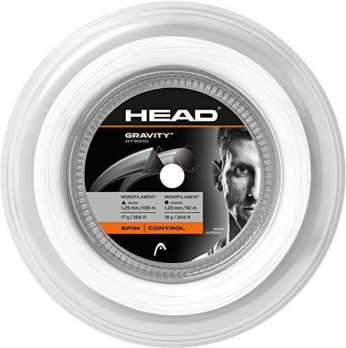 HEAD Gravity Cordage pour Raquette de Tennis Blanc 5,5 m