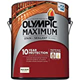 Olympic Stain 79606 Maximum Wood Stain and Sealer, 1 Gallon, Solid Stain, Cedar