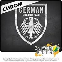 ドイツのカスタムカー - オートチューニング German Custom Car - Autotuning 13cm x 10cm 15色 - ネオン+クロム! ステッカービニールオートバイ