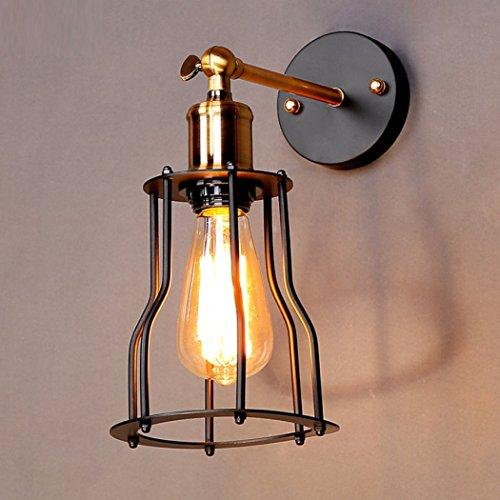 HSBAIS Loft industrielle murale lumière Vintage lampe murale en cuivre accueil intérieur décoration murale pliable angle luminaire pour E27 source de lumière