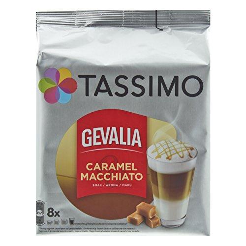 Tassimo Gevalia Caramel Latte Macchiato, Kaffee, Gemahlener Röstkaffee, Kaffeekapsel, 16 T-Discs / 8 Portionen