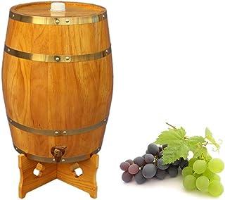 ZHhome Tonneau à vin en Bois 5L Barils en chêne, fûts de chêne de vin pour la vinification ou de Stockage Whisky Bière des...