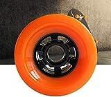 xiegons0 Eléctrico Skate Rueda, 83mm Juego de 4 Ruedas de Longboard Carretera Carreras Eléctrico Ruedas de Skate 83mm 78A Personalizado Hub (Color: Naranja Negro Rojo) - Naranja, Free Size
