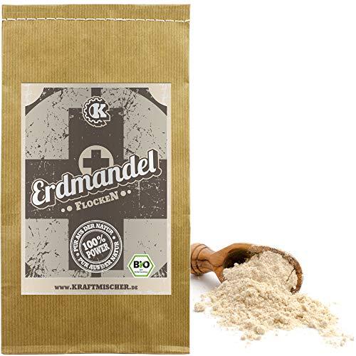 BIO Erdmandelflocken - 1kg - ROHKOSTQUALITÄT - unverwechselbare natürliche Süße, ohne Gluten - für leckere Müsli, Riegel, veganes backen