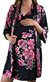 Embrace Your Bump 2 in 1 Super Soft Maternity & Nursing Nightgown & Robe Set