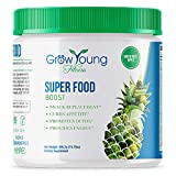 Grow Young Fitness - Super Food Weight Loss Boost - Snack Replacement - 30 Day Supply - 25 + Real Organic Detoxifying Super Foods - Delicious Apple Flavor Green Juice Powder