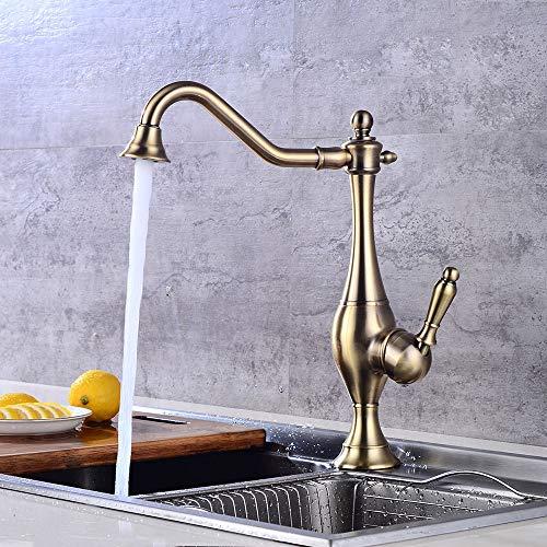 Einzelne kalte verdickte Wand Öffnen Sie den Wasserhahn,Wasserhahn Bad, Elegant Kurvenprofil Stil Waschtischarmatur, Kaltes und Heißes Wasser Vorhanden