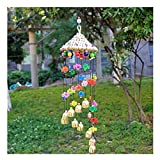 Straw Hat Wind Chimes Home Bell Crafts Inn Bar Decoration Crisp Wind Chimes Suitable for Indoor and Use Outdoor Décor