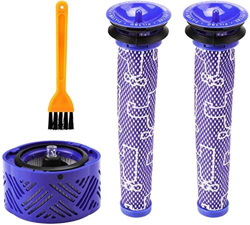 Home Spare Parts | Filtre compatible pour aspirateur Dyson | Sans fil | Filtre Dyson V6 V7 V8 Post et Pre avec pinceau | Pièces de rechange maison | Filtre Dyson | Hepa | Accessoires Dyson | Série |