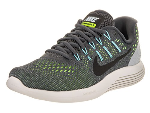 Nike WMNS Nike Lunarglide 8, WOLF GREY/GYM RED-BLACK, 9