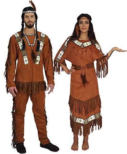 MAYLYNN Kostüm Indianerin Indianer Indianerkostüm Nodyn, Herren Größe M