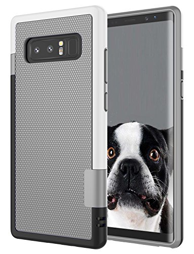 Galaxy Note 8 Case, Note 8 Cover, Jeylly [3 Color] Slim Hybrid Impact Rugged Soft TPU & Hard PC Bumper Shockproof Protective Anti-Slip Case Cover Shell for Samsung Galaxy Note 8 SM-N950 - Light Gray