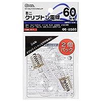 ミニクリプトン電球 E17/60W形 クリア 2個入 KR100/110V54WC/2P 06-2588 【まとめ買い10セット】