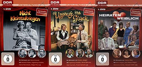 DFF-Schwänke 3er Package - Nicht kleinzukriegen - Umwege ins Glück - Heiraten weiblich - (DDR TV-Archiv) [3 DVDs]