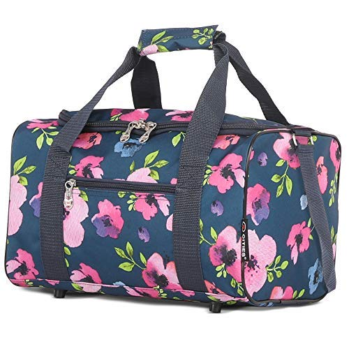 5 Cities 40x20x25 New and Improved 2019 Ryanair Maximum Sized Under Seat Cabin Holdall – Take The Max on Board! (Navy Floral),S