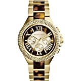 Michael Kors MK5901 Women's Chronograph Camille Tortoise and Gold-Tone Stainless Steel Bracelet Watch