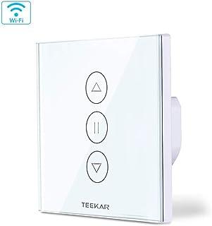 Teepao [3ª generación] Interruptor de persiana con Interruptor de persiana Compatible con Alexa Echo y Google Assistant, Interruptor de Reloj de Obturador para Motor de Obturador de Motor Tubular
