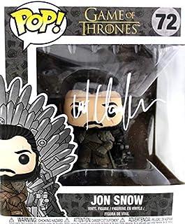 Kit Harington Autographed/Signed Funko Pop! Jon Snow Sitting on the Throne - Game Of Thrones #72 Vinyl Collectible Figure