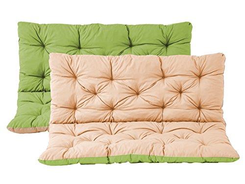 Meerweh Auflage mit Rückenteil für Bank, Wendekissen Polsterauflage Bankauflage, grün, 150.0x98.0x10.0 cm, 74088