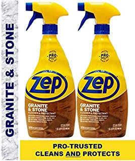 Zep Granite & Stone Countertop Cleaner and Protectant 32 Oz ZUCSPP32 (Pack of 2) - Formulated for pros to Clean and Protect countertops