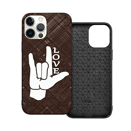 ASL (American Sign Language) I Love You Phone Case for iPhone 12/12 Pro/12 Pro Max /12 Mini Soft TPU Leather Anti-Scratch Protective Cover