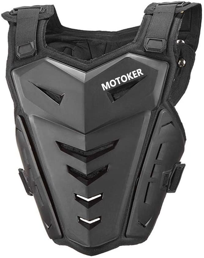 Motoker Adult Motorcycle Armor Vest Motorcycle Riding Chest Armor Back Protector Armor Motocross Off-Road Racing Vest (Black)