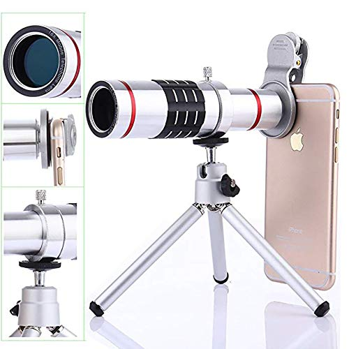 YZY Profession Camera Lens Kit,3 in 1 HD Universele Clip-On Telefoon Lens 18X Optische Zoom Telelens 15X Macro Lens 0.45X Super Wide Hoek Lens