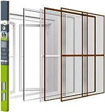 Bescherming tegen insecten dubbele schuifdeur vliegengaas muggengaas | aluminium | met klemlijst | easy life | 230x240cm |...